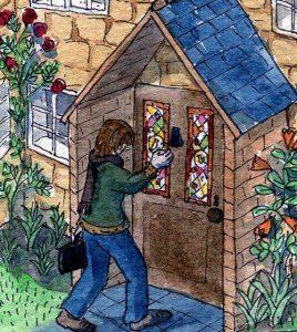 Rachel Mulligan watercolour illustration - The Artist