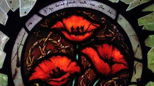 Rachel Mulligan Stained Glass Poppy Panel