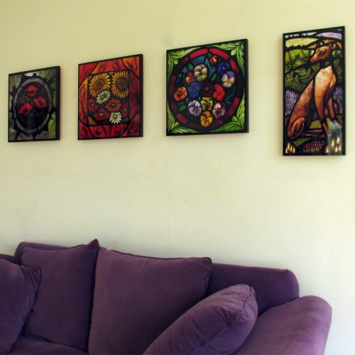 Stained glass artist Rachel Mulligan - Wall Photos