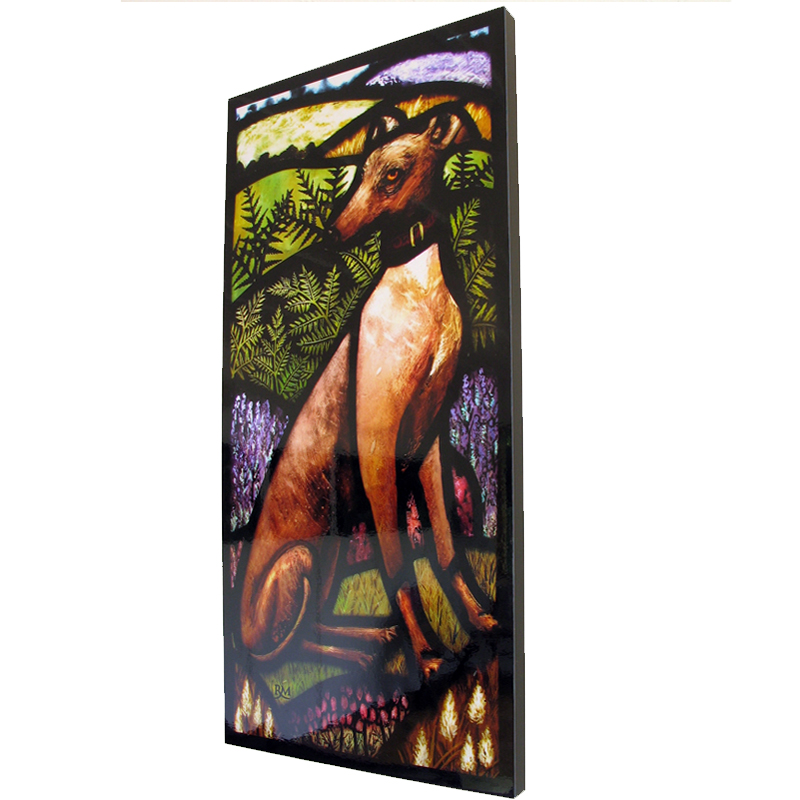 Stained glass artist Rachel Mulligan - Wall Photo of Greyhound